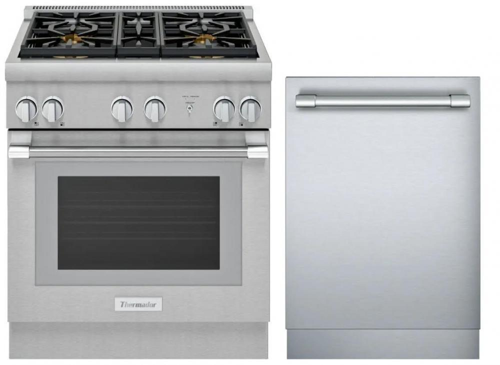 Prg304wh Dwhd650wfp Thermador One Two Free Kitchen Appliance Bundle Kitchen Packages Packages West Coast Appliance And Furniture Salem Or West Coast Appliance And Furniture